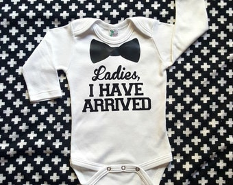Baby boy bodysuit, trendy baby boy clothes, fall baby clothes, funny infant bodysuit, baby shower gift, new baby, new mom gift, cool baby