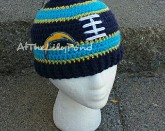 San Diego Chargers, San Diego Chargers Crochet Hat, San Diego Chargers Baby, Chargers Baby, Chargers Kids, Chargers Hat, Chargers Football