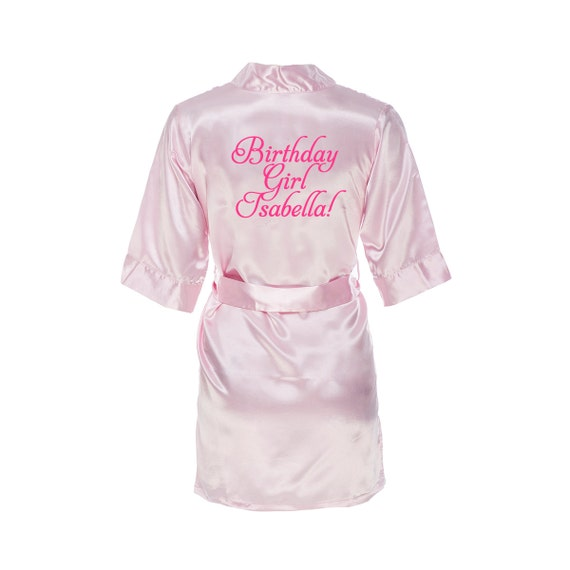 monogrammed kids satin robe personalized childrens satin
