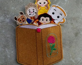 Beauty and the Beast Finger Puppets and Carrying Case