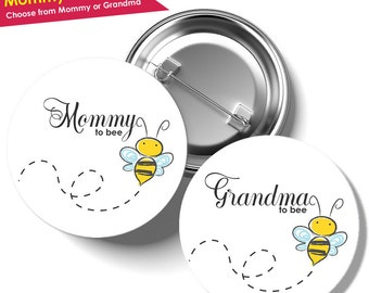 Mommy to Bee Pin- Bumble Bee Baby Shower Decorations- Baby Shower Pins- Baby Shower Corsage Boy or Girl- Mom to Be Pin- Grandma to Be Pin