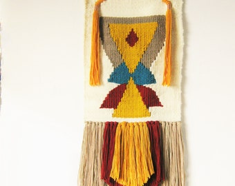 Big handwoven wall hanging TOTEM