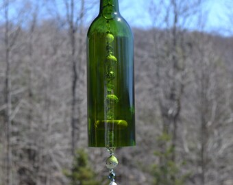 Wine Bottle Wind Chime/Heart Wind Chime