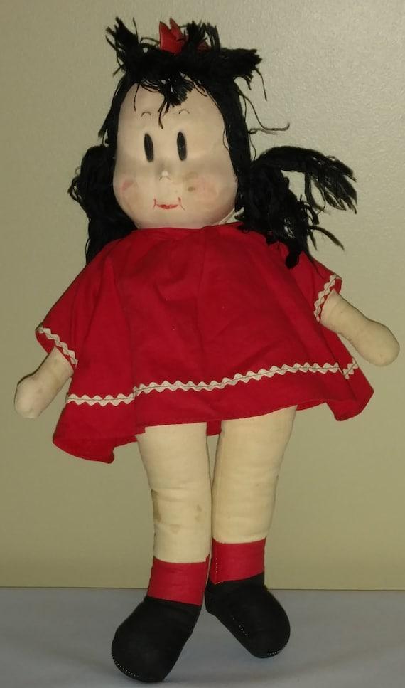 Vintage Little Lulu 14 Cloth Doll
