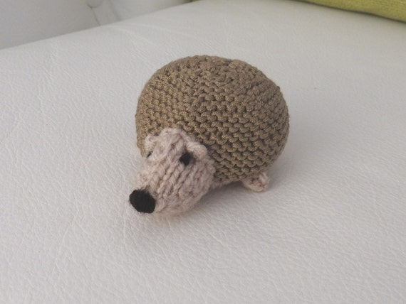Hand knitted Hedgehog Pin Cushion Critter Desk Toy OOAK