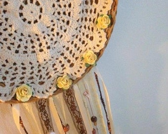 Shells and Roses Dream Catcher