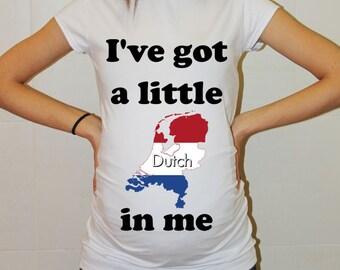Maternity Shirt Pregnancy TShirt Holland Mom to be Future Mom Tank Tops Tunic Funny Maternity Baby Peekaboo