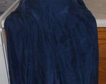 St Michael Size 12 Blue Silk Culottes Gouchos Skirt Skorts