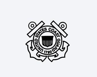 US Coast Guard Decal - Custom Color - Coast Guard - Armed Forces Decal #M97B3F0