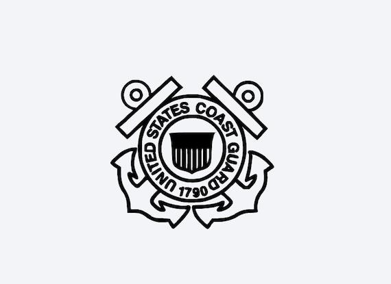 US Coast Guard Decal Custom Color Coast Guard Armed