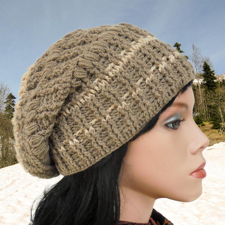 Crochet Slouch Hat: Crochet Hat Patterns Women Slouchy Hat Crochet Beanie Hat