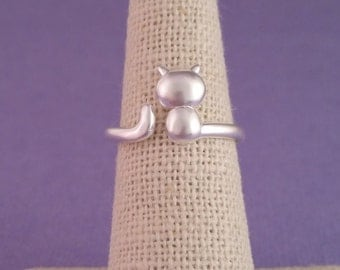 Kitty Cat Ring III - Sterling Silver