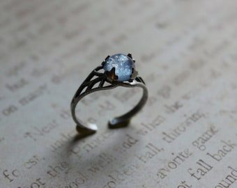 Blue Winter Opal Ring, Blue Opal Ring, Opal Ring, Birthday Gift Ideas, Mother's day gift, Prom Jewelry
