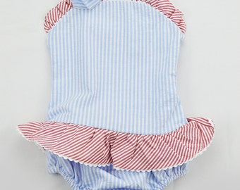 Girls One piece bathing suit. Size 2t. Perfect for monogramming.