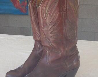 FRYE Women's Western Chestnut Boots Size 6