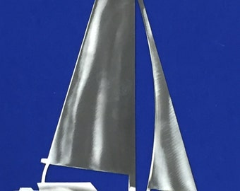 SAILBOAT Ocean Nautical Marine Sea Life Beach House Home Metal Art Skilwerx