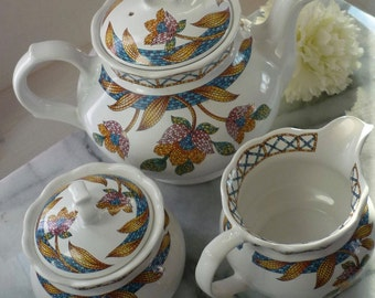 "Sadler ""Piazza"" Tea set c1950s"