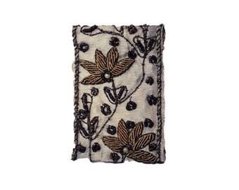 Embroidered Brooch, Beaded Brooch