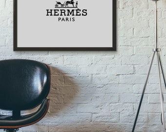 Hermes Print, Hermes Logo Print, Typography Art, Printable Art, Digital Prints, Printable Wall Art, Typography Prints, Art Prints