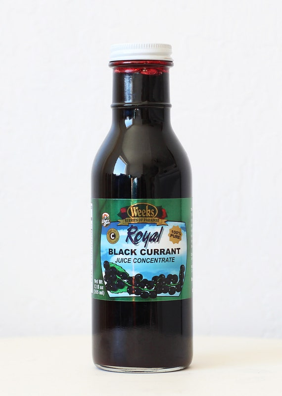 All Natural, Organic, Antioxidant, No Preservatives, Black Currant Juice Concentrate - Utah's Own