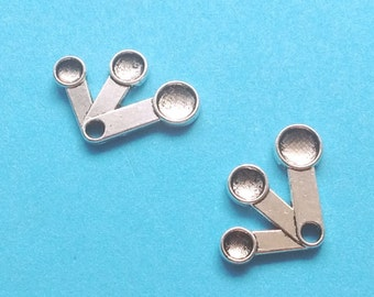 10 Measuring Spoons Charms Silver- CS2214