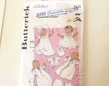 50s baptism gown, vintage Christening gown pattern, Baptism gown pattern, Vintage sewing pattern, Christening layette pattern, butterick 642