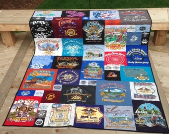 Harley Davidson T-shirt quilt, mosaic style t-shirt quilt, memory t-shirt quilt, DEPOSIT only and applies to order.