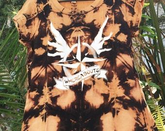 Reverse Tie Dye Band T-Shirt, Tie Dye Band Tee, DIY, Hand Dyed Shirt, Music, Musician, Merch, Rock n Roll
