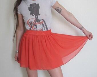 80s Vintage Chiffon Skirt