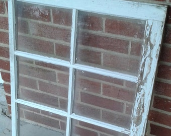 Vintage Six-paned Window Chippy Paint