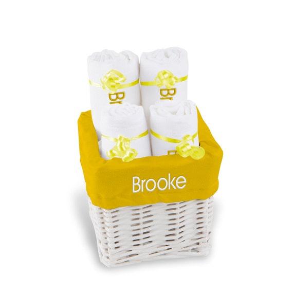 Baby Gift Basket Etsy : Personalized baby gift basket girl burp