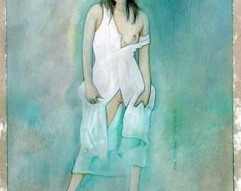 "Aya Otosaki, 11 x 14"", Hand Drawn by T.Hirmer"