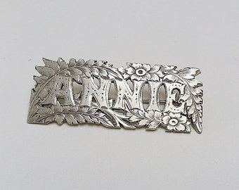 Antique Victorian NAME brooch 'ANNIE'