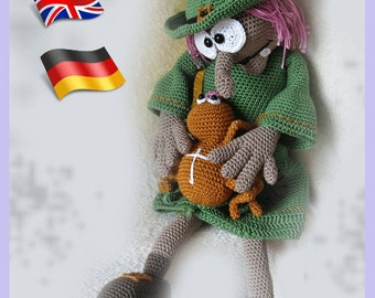 crochetpattern Witch Hazel,Amigurumi doll crochet pattern, crocheted dolls pattern, amigurumi PDF pattern, Instant download, Halloween