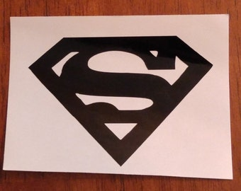 Superman Decal - permanent vinyl - perfect for Yeti & Rtic tumbler cups, coolers, car windows,  etc. Decal only.