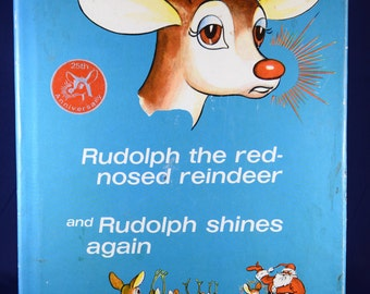 1954 Rudolph The Red Nosed Reindeer & Rudolph Shines Again by Robert L. May Book