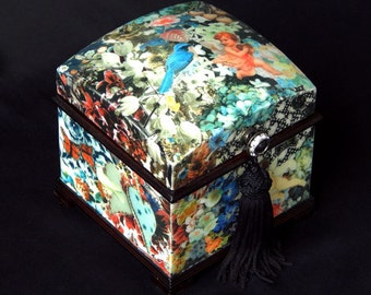 Decoupage Ring Jewelry Music Box.