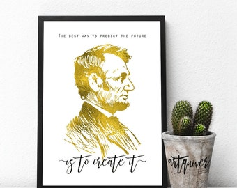 Inspirational posters, Abraham Lincoln quotes, Abraham lincoln poster, famous quotes about life, motivational, Wall Art, framed ART