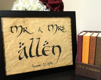 Customizable Lord of the Rings Inspired Sign *UNFRAMED*