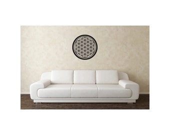 Flower Of Life Vinyl Wall Decal, Sacred Geometry, Size: 22 inch, Free Shipping
