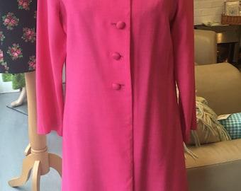 1960's pink jacket  long duster coat