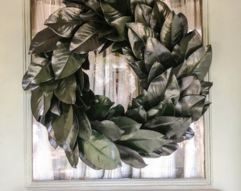Real Preserved Magnolia Wreath