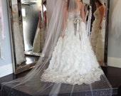 Wedding Veil Swarovski Crystal Rhinestone Cathedral Length Veil Bridal Accessories