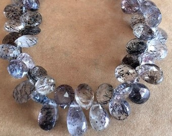 Moss Amethyst Faceted Briolettes
