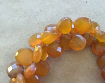 Orange Chalcedony Faceted Briolettes    (Item # 5390)