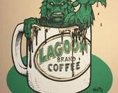 Coffee Monster screen print