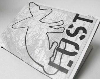 Lust // Handmade Mini Notebook / Hand Stenciled Small Journal Notepad / Eco Friendly Luluanne Original Design