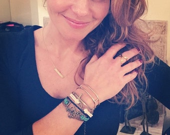 ANCHORED IN GOD DeBella Bracelet - As made popular by Candace Cameron Bure in Emerald Green