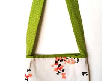 """Children's Cotton Bag/Purse, Butterflies 9"""" x 8"""""""