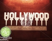 HOLLYWOOD Sign Cupcake Topper Set, Hollywood Sign Cake Topper Set, Hollywood Sign Cakescape, Hollywood Sign Replica